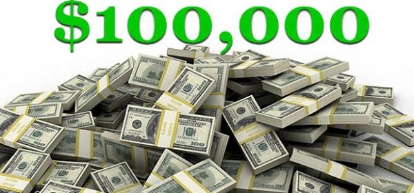 $100,000 Check Sweepstakes