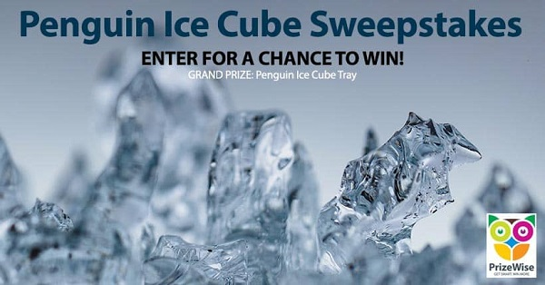 Penguin Ice Cube Tray Sweepstakes