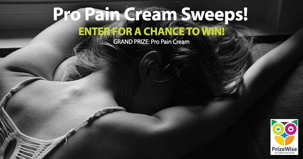 Pro Pain Cream Sweepstakes