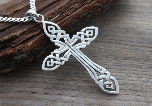 Sterling Silver Irish Celtic Cross Sweepstakes