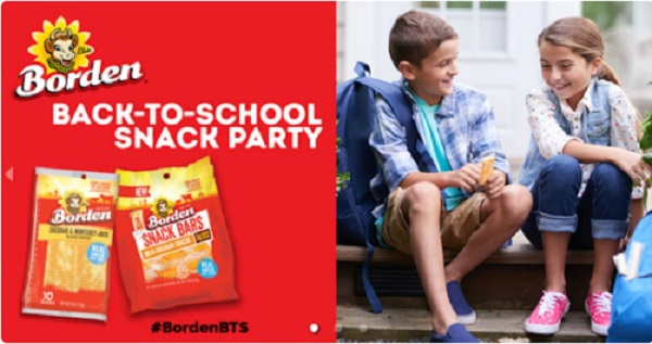 Free Borden Cheese Back-to-School Snack Party