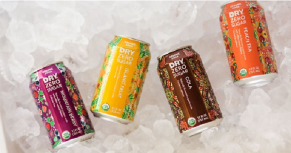 Free DRY Zero Sugar Organic Sodas