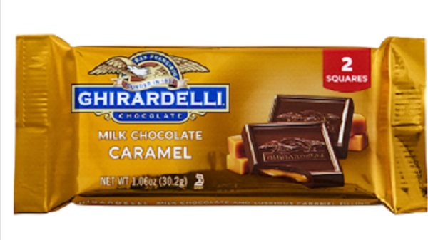 Free Ghirardelli Milk Chocolate Caramel 2-Square Pack