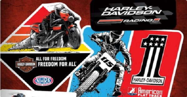 Free Harley Davidson Racing Sticker