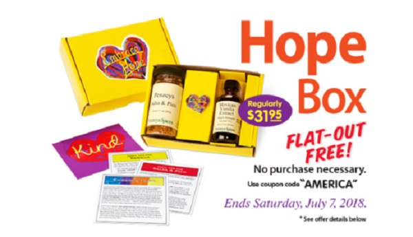 Free Penzeys Hope Box (ENDS TODAY!)