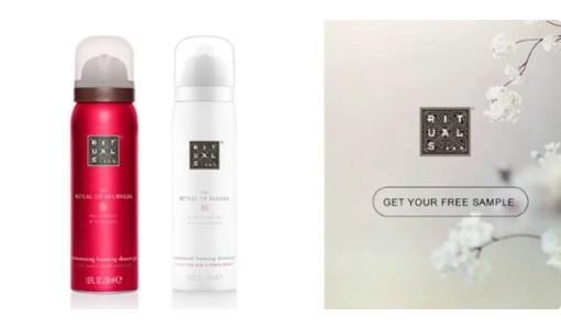 Free Rituals Cosmetics Foaming Shower Gel