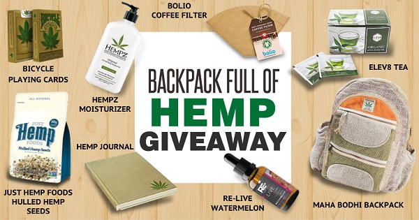Hemp Backpack And Prize Pack Sweepstakes