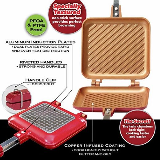 Bulbhead Red Copper Flipwich Non-Stick Sandwich Maker Sweepstakes