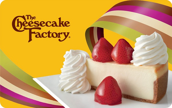 Cheesecake Factory Gift Card Giveaway