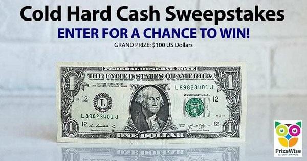 Cold Hard Cash Giveaway