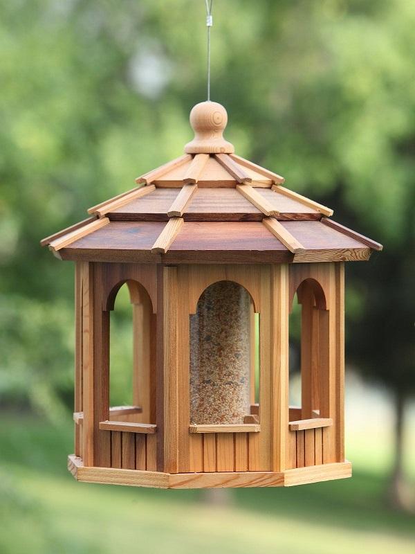 Handcrafted Cedar Octagon Bird Feeder Giveaway