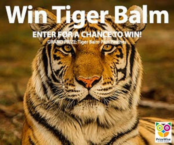 Tiger Balm Pain Relief Sweepstakes