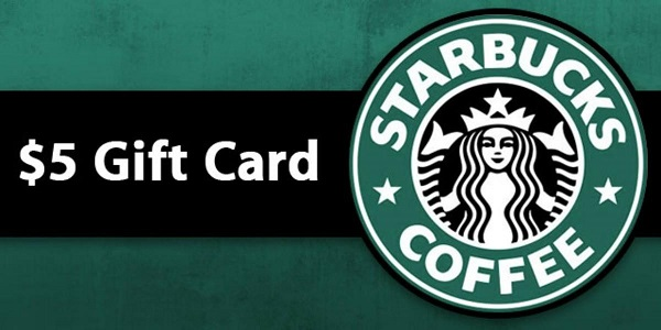 Free $5 Starbucks Gift Card