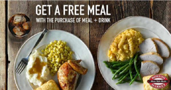 Free Boston Market Meal BOGO Coupon