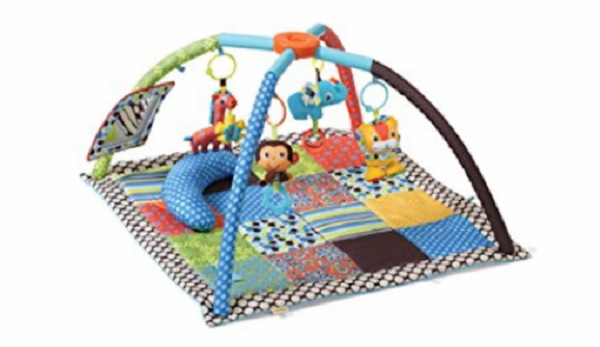 Free Infantino Deluxe Twist & Fold Activity Gym & Play Mat