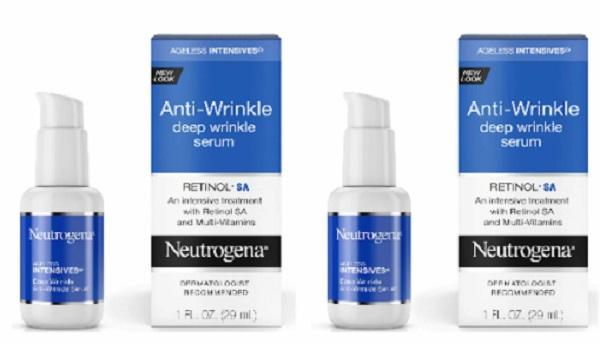 Free Neutrogena Anti-Wrinkle Facial Serum