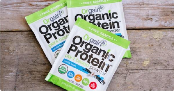 Free Orgain Organic Protein Powder