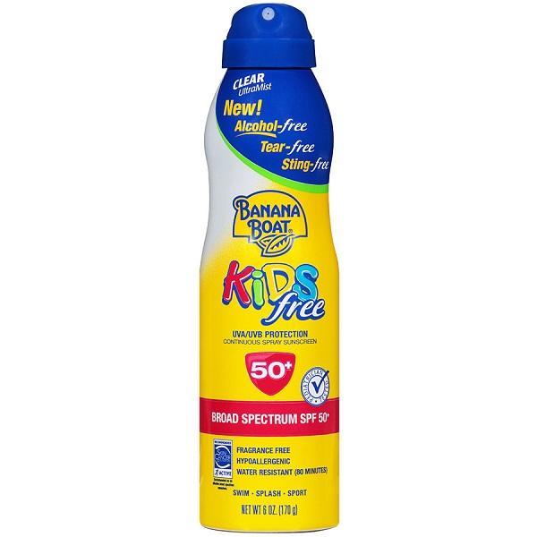 Free Spray Sunscreen For Kids