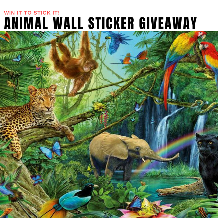 Animal Wall Sticker Giveaway
