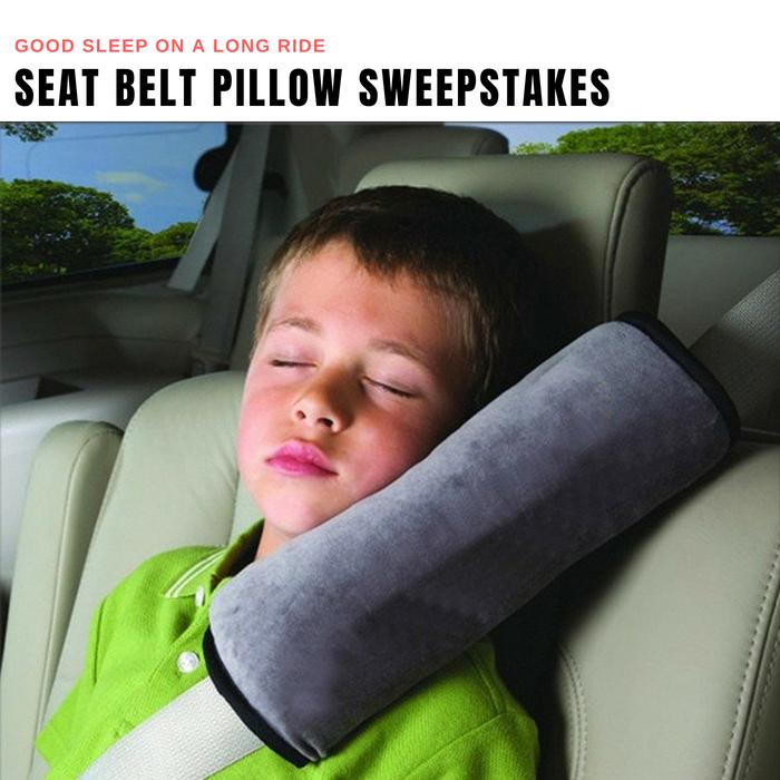 Seat Belt Pillow Giveaway