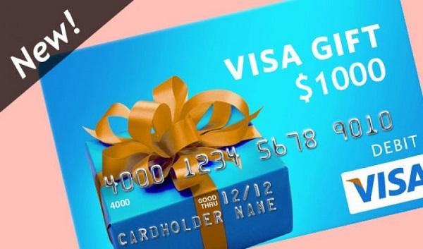 $1,000 Visa Prepaid Card Giveaway