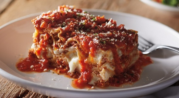 Free Lasagna From Carrabba's With Entrée Purchase