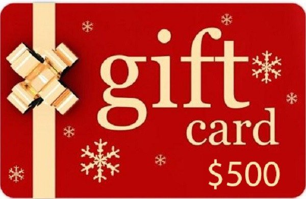 $500 Gift Card Giveaway
