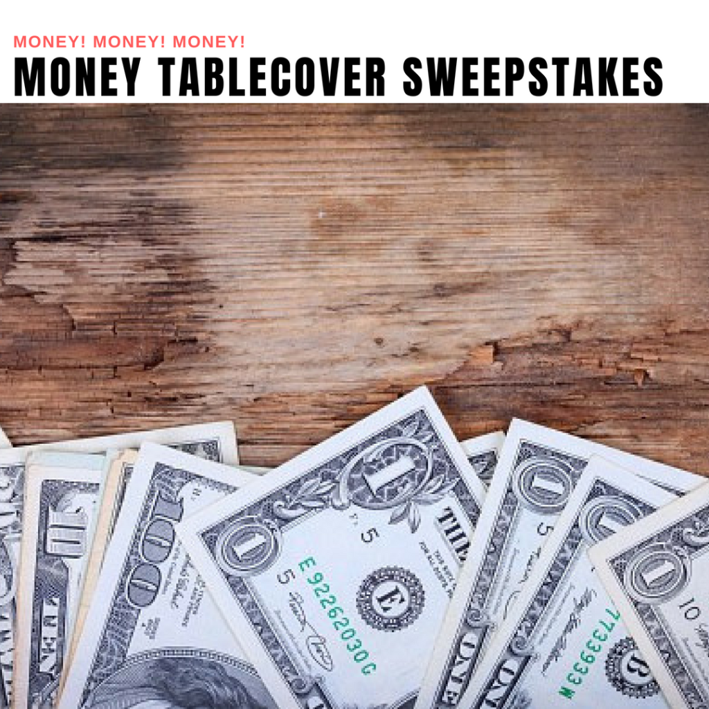 Money Table Cover Giveaway