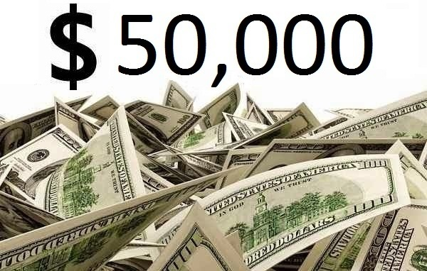 $50,000 Check Giveaway