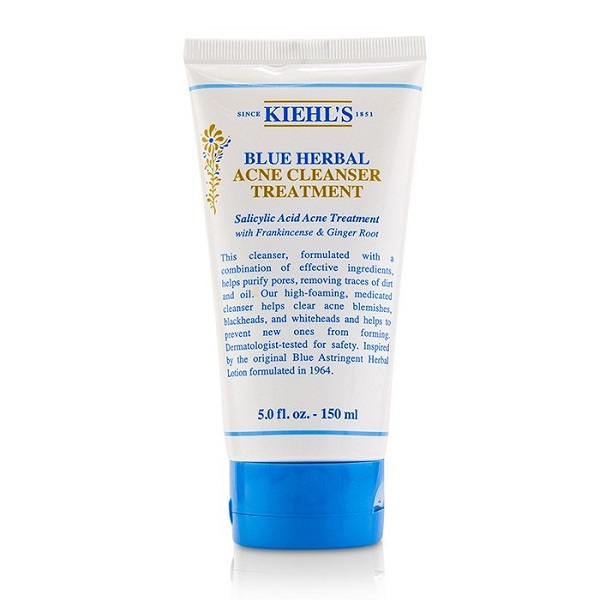 Kiehl's Blue Herbal Acne Cleanser Treatment Giveaway