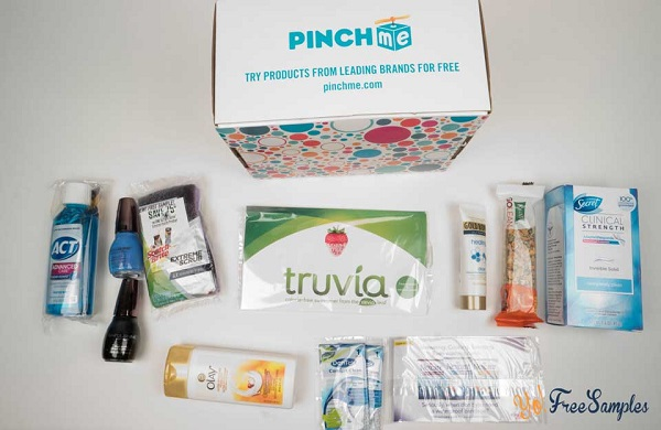 Free Box of Samples Every Month at PINCHme