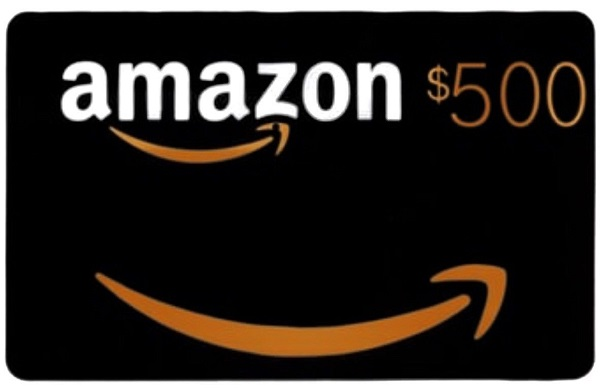 $500 Amazon e-Gift Card Giveaway