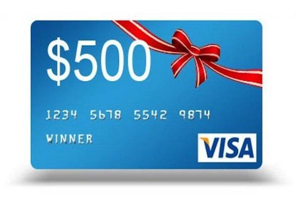 $500 Visa Card Giveaway