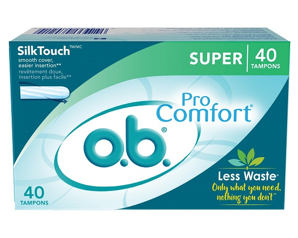 Free 40-Count Box of O.B Tampons