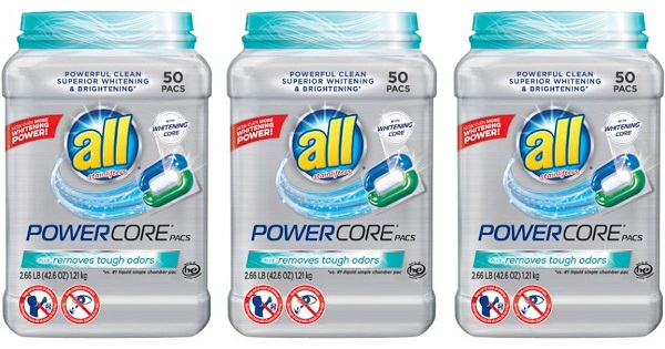 Free 50ct of All Powercore Pacs After Cash Back