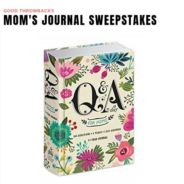Mom's Journal Sweepstakes