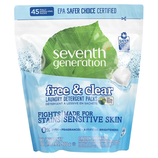 Free Seventh Generation Free & Clear Laundry Detergent Packs