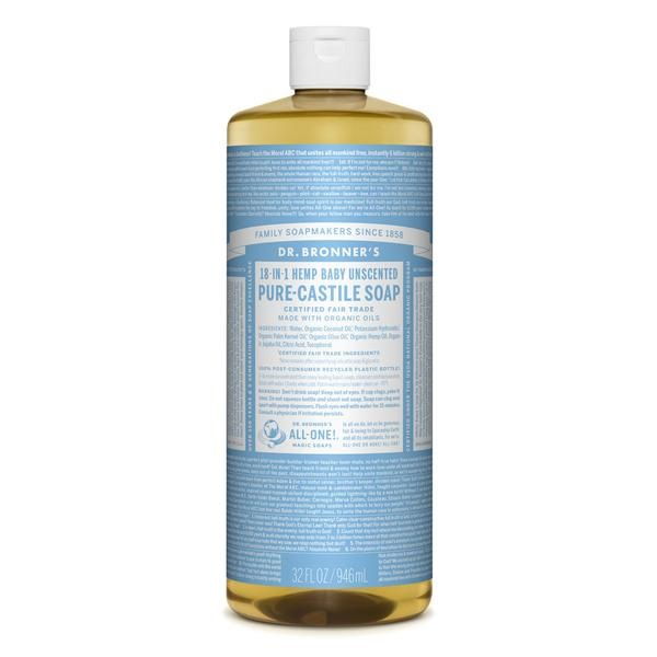 Free Dr. Bronner's Baby Unscented Pure-Castile Liquid Soap
