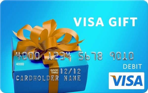 $2,500 Visa Gift Giveaway