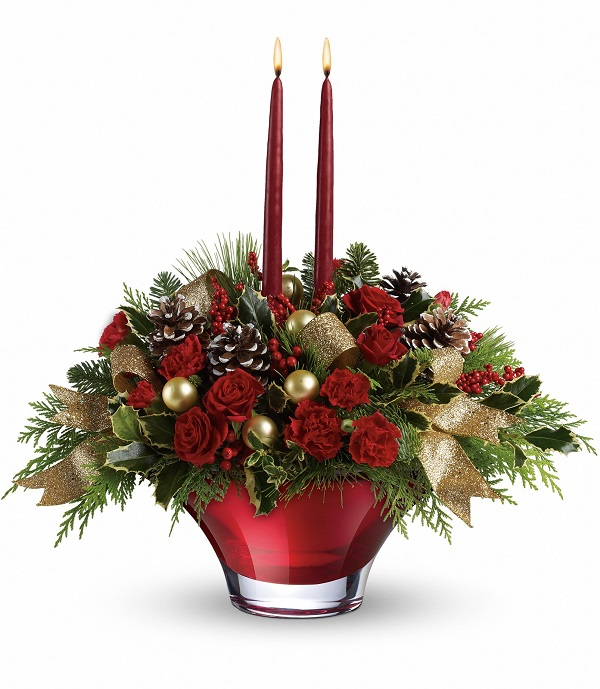 Holiday Centerpiece From Teleflora Giveaway
