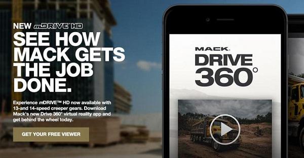 Free Mack Trucks Virtual Reality Viewer