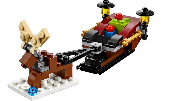 Free LEGO Mini Model Build Reindeer Sleigh