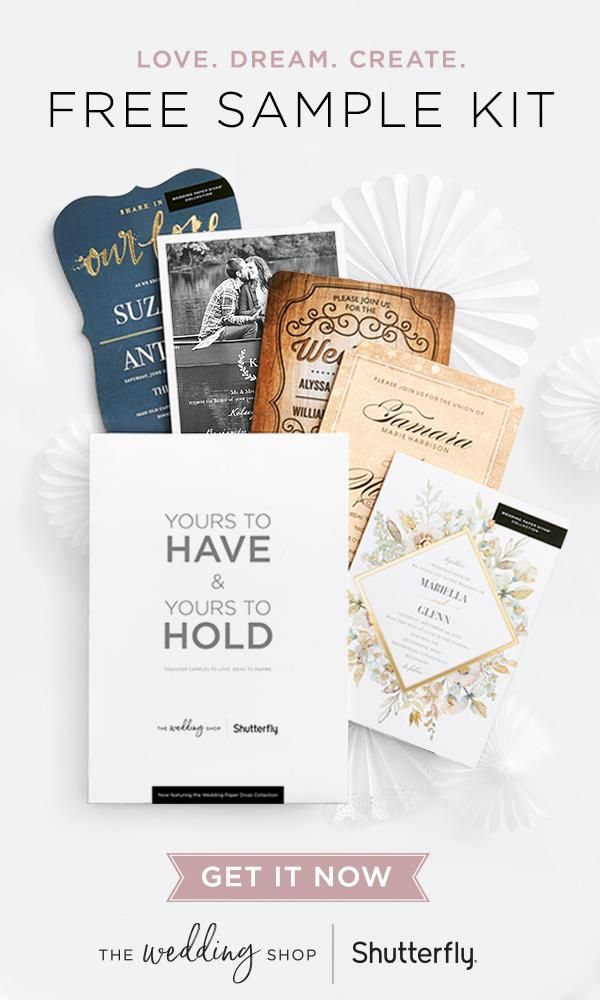 Free The Wedding Shop Sample Kit & 40% Off Shutterfly Coupon