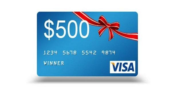 $500 Visa Prepaid Debit Card Giveaway