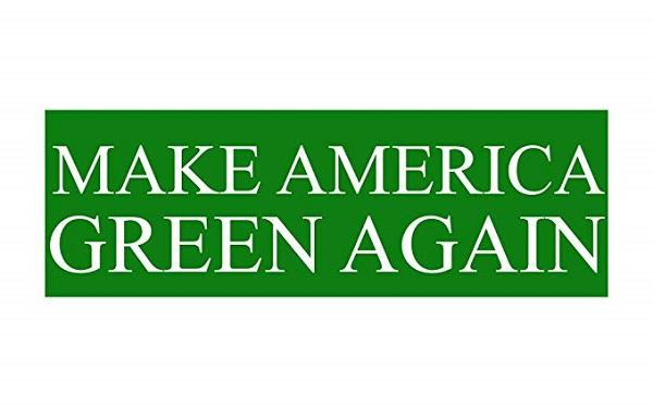 Free Make America Green Again Sticker