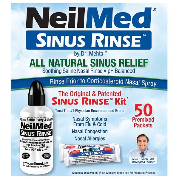 Free NeilMed Sinus Rinse or NasaFlow Neti Pot