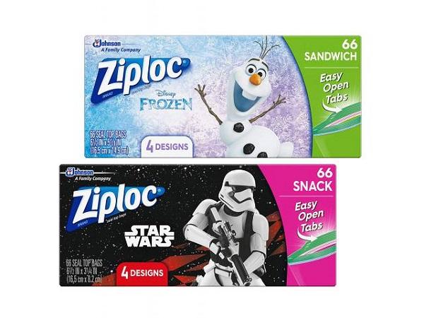 Free Star Wars & Frozen Ziploc Sandwich Bags