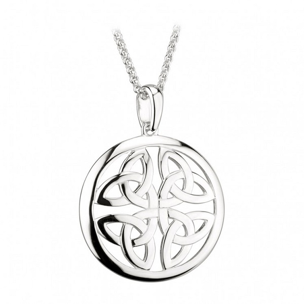 Sterling Silver Trinity Knot Circle Pendant Giveaway