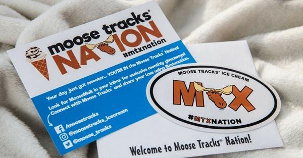 Free Moose Tracks Nation Magnet or Sticker