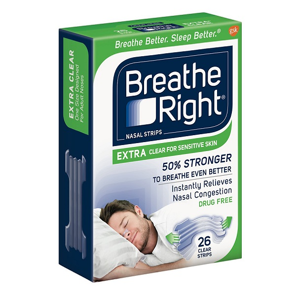 Free Sample of Breathe Right Extra Clear Nasal Strips